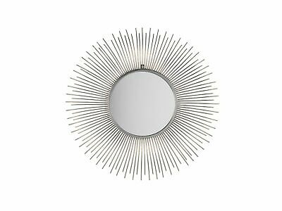 Home Round Silver Wall  Mirror Sunburst Star Bathroom Entryway Living Room Cilly • 109.99£
