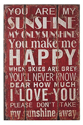 Premier Housewares You Are My Sunshine Wall Plaque • 12.37£