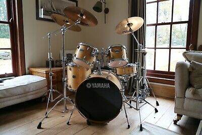 Drum Kit Yamaha Stage Custom 22  5 Piece Shells With Full Hardware & Cymbals • 799£
