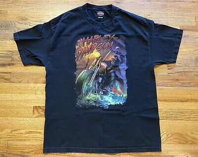 $ CDN35.27 • Buy Vintage XL Black T-Shirt Harley Davidson Thunder Mountain Loveland Colorado