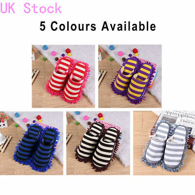 UK Cleaning Mop Slippers Shoes Cover Soft Washable Reusable Lazy Foot Socks C • 10.09£