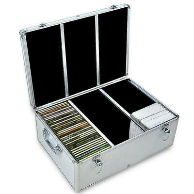 AU41.86 • Buy 240 Discs Aluminium CD DVD Cases Bluray Lock Storage Box Organizer Free Inserts