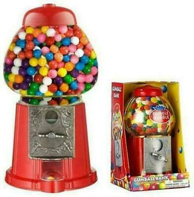 Mini Gumball Vending Machine Gum Sweet Dispenser Retro Candy Toy Coin Operated • 14.89£