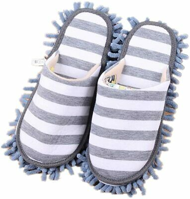 A Pair Mop Slippers Lazy Floor Foot Socks Shoes Quick Polishing Cleaning Dust UK • 8.88£
