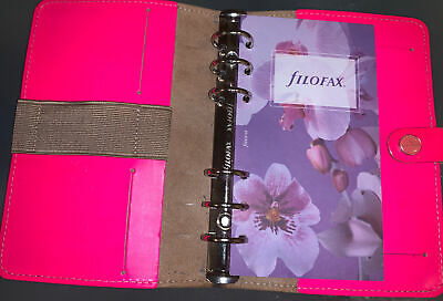 The Original Personal Filofax Organiser - Neon / Hot Pink - Genuine Leather  • 27.99£