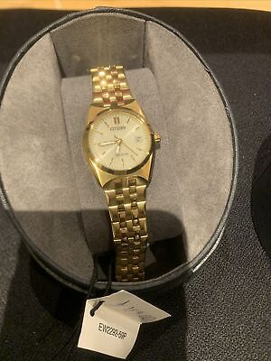 Citizen Eco Drive Watch 100m EW2292-59P Gold Plated Stainless Steel  • 175£