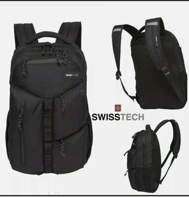 Swiss Tech Appenzell Backpack Laptop Tablet Sleeve School Backpack Black NWT • 5.72£