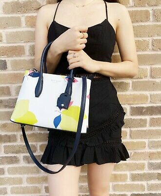 $ CDN127.05 • Buy Kate Spade Eva Lemon Zest Small Top Zip Satchel Crossbody Bag Leather Yellow