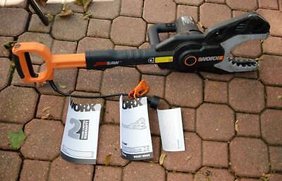 Worx JawSaw Electric Corded Chain Saw WG308 No Extension Pole Used Once-twice • 67.12£