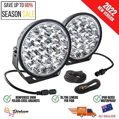 AU189.25 • Buy Kings Xtreme 9  LED Driving Lights Offroad Spot Flood Pair Lamp Lux Lumens New