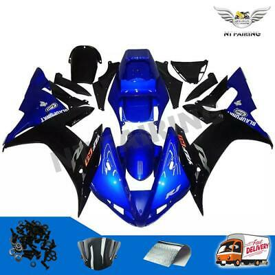 $499.99 • Buy FD Fit For Yamaha R1 YZF 2002-2003 Blue Black Injection Fairing Plastic Kit M037