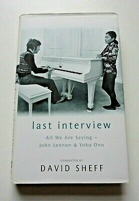 John Lennon / Yoko Ono Book - Last Interview, All We Are Saying -playboy/beatles • 19.99£