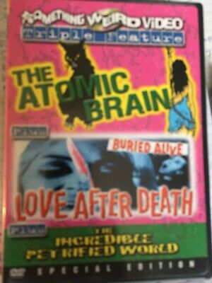 The Atomic Brain/love After Death/incredible Petrified World-something Weird Dvd • 10£
