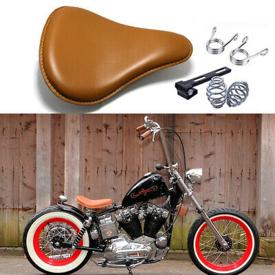 $56.61 • Buy For Harley Davidson Sportster Bobber Chopper Motorcycle Spring Solo Seat Brown