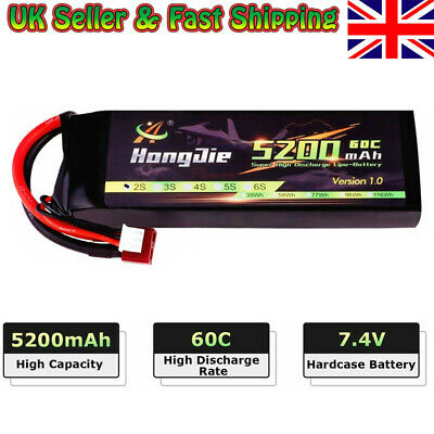 5200mAh 7.4 V 2S LiPo Battery 60C With Deans T Plug For RC Car Buggy Truck Toy • 27.58£