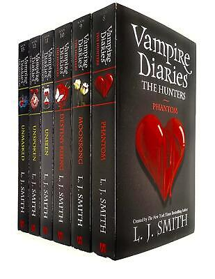 Vampire Diaries Complete Collection 6 Books Set By L. J. Smith (The Hunters) (Bo • 23.94£