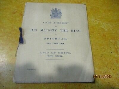 Review Of The Fleet His Majesty The King Spithead 1911 Booklet • 95£