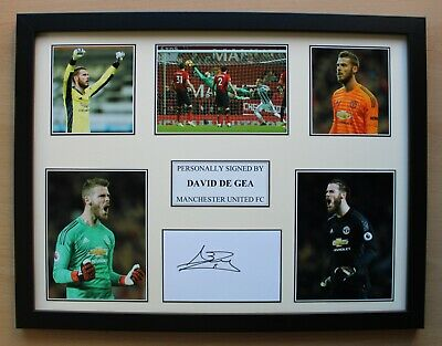 David De Gea Signed Manchester United Multi Picture Display (20355) • 50£