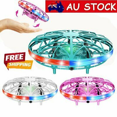 AU22.36 • Buy 360° Mini LED Drone Smart UFO Aircraft For Kids Flying Toys RC Hand Control AU