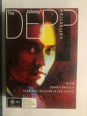 AU20 • Buy The Johnny Depp Collection - Blow- Donnie Brasco - Fear & Loathing - DVD