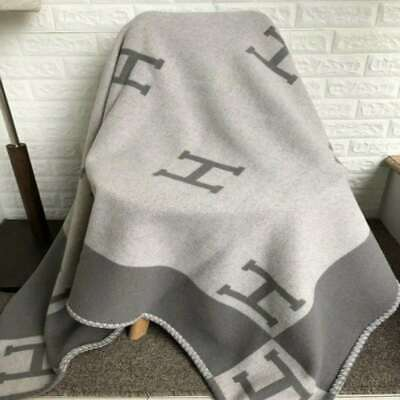 55 X65  H-Blanket Wool Cashmere Throw Plaid Blankets Shawl Sofa Aircraft 4 Color • 21.99£