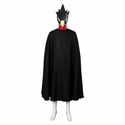 My Hero Academia Tokoyami Fumikage Cosplay Costume Eagle Outfit Cloak + Mask • 61.66£