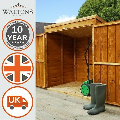 Wooden Garden Shed 5x3 Outdoor Tool / Log Storage Windowless Double Door 5ft 3ft • 199.99£
