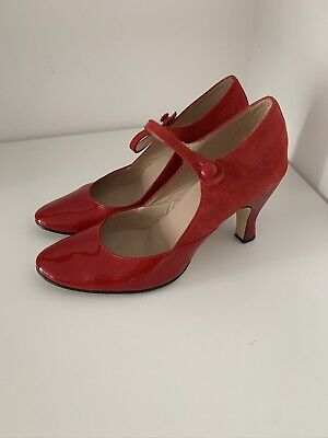 £79.99 • Buy Vintage Repetto Red Patent Mary Jane Shoes EU39 UK5.5-6 Excellent Condition