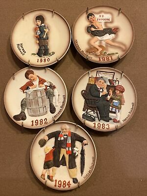 $ CDN22.67 • Buy Vintage Mini 1980-1984 Norman Rockwell Annual Plates Limited Edition Lot Of 5...