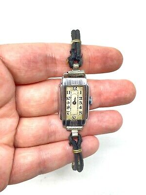 £108.58 • Buy Vintage Olympic Co R. GSELL Watch 7 Jewel W/ Diel Whitever Case For Parts Repair