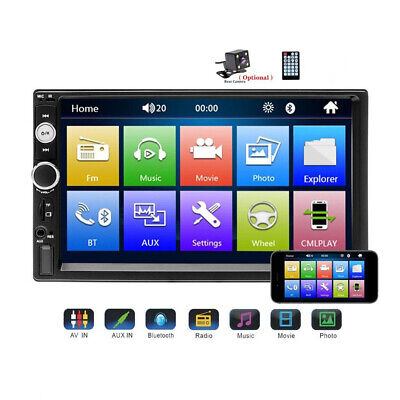 AU70.99 • Buy 7'' Universal Double 2 DIN Bluetooth Car Stereo Auto Radio MP3 Player Head Unit