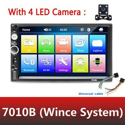AU70.99 • Buy 7'' Double 2 DIN Touch Screen Car Stereo Radio MP5 Player Head Unit +Rear Camera