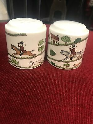 Coalport  Hunting Scene  Cruet Set Salt And Pepper • 15£