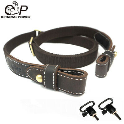 $ CDN34.25 • Buy Padded Cotton Rifle Gun Sling Straps Adjustable Up To 47 Inches With QD Swivel
