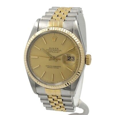 $ CDN5213.60 • Buy Rolex Oyster Perpetual Datejust 16013 Stainless/18k 36mm Gents Wrist Watch- 9005