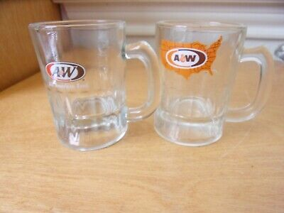 2   A& W   Root Beer  Shot Glasses • 3£