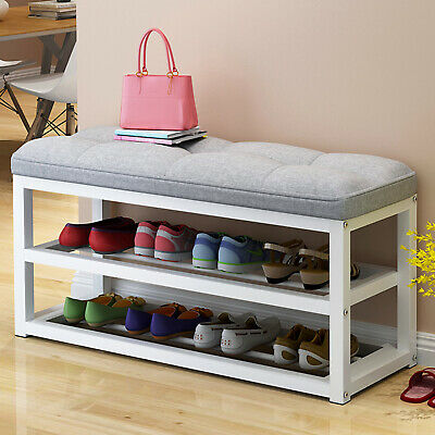 Shoe Bench Shoe Rack Storage Cabinet Hall Bench With Seat Cushion Home Hallway  • 49.40£
