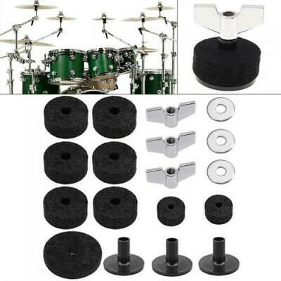 UK 18pcs Drum Washers Cymbal Felt High-hat Clutches Wing Nuts Accessories • 8.25£