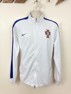 NIKE Portugal Tracksuit Top. White. XXL. Zip Through. Retro. Jacket. Zip Pockets • 26.99£