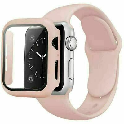 AU11.99 • Buy  For Apple Watch 6 5 4 3 2 1 SE 42 44mm Soft Silicone IWatch Band Strap + Case
