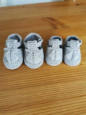 Grey Baby Booties 0/3 Months  • 2.50£