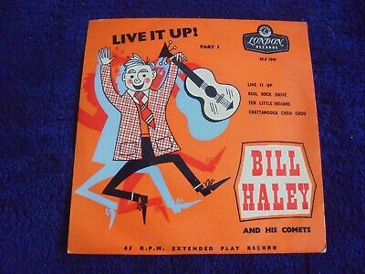 Bill Haley And His Comets - Live It Up Part 1 1956 UK EP LONDON GOLD • 3.99£
