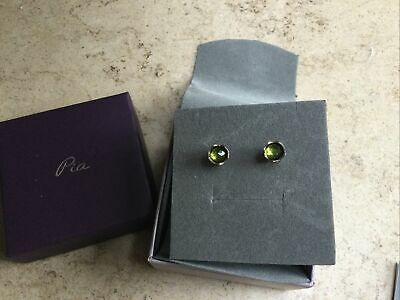 Pia Peridot Studs New In Box • 6.50£