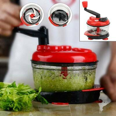 Manual Slicer Food Cutter Fruit Vegetable Cutter Chopper Rotary Grater • 9.59£