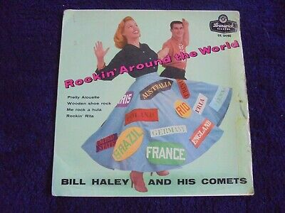 Bill Haley And His Comets - Rockin' Around The World 1963 UK EP BRUNSWICK R/C • 20£