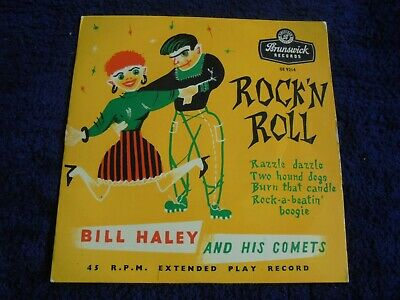 Bill Haley And His Comets - Rock 'N Roll With Bill Haley 1956 UK EP BRUNSWICK • 3.99£
