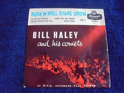 Bill Haley And His Comets - Rock 'N Roll Stage Show Part 1 1957 UK EP BRUNSWICK • 3.99£
