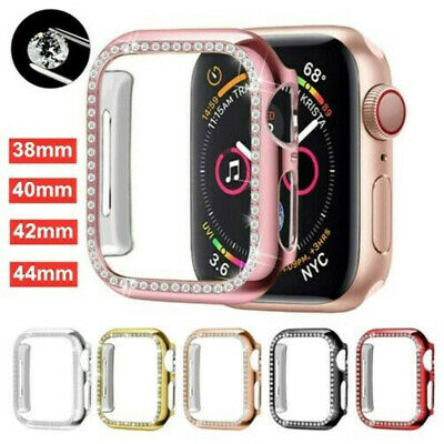 $ CDN5.88 • Buy For Apple Watch Series6 5 4 3 2 1 Bling Protector Case Cover Bumper Screen Frame