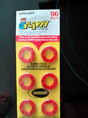 Crescent FLIPPY Toy Gun Caps 96 Shots - Sealed On Card • 0.99£