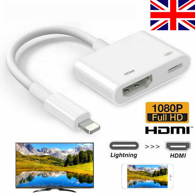 Lighting To HDMI Digital TV AV 1080P Adapter Cable For IOS IPad Apple IPhone X • 8.85£